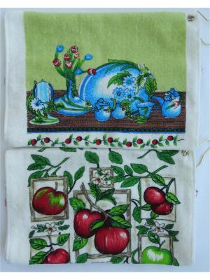 Набор полотенец A and C Collection. Цвет: зеленый, голубой, светло-бежевый