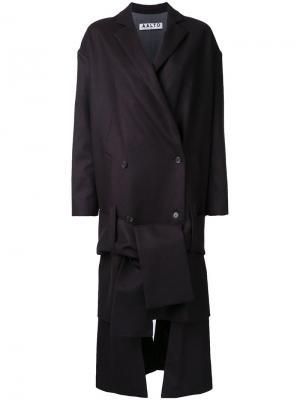 Пальто с асимметричным подолом Aalto. Цвет: коричневый