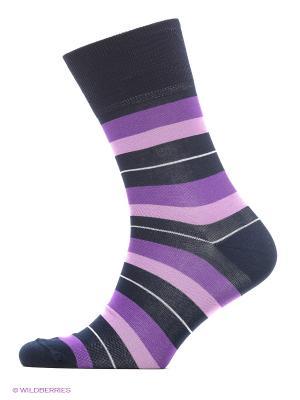 Носки ASKOMI. Цвет: темно-фиолетовый, фиолетовый, серый