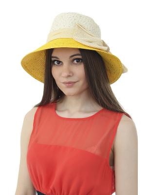 Шляпа Gusachi. Цвет: белый, бежевый, желтый