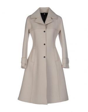 Легкое пальто 1-ONE. Цвет: слоновая кость