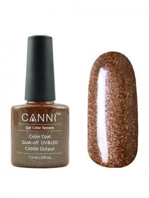 Гель лак №9 CANNI. Цвет: коричневый