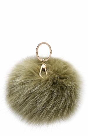 Брелок Bubble с мехом Furla. Цвет: зеленый