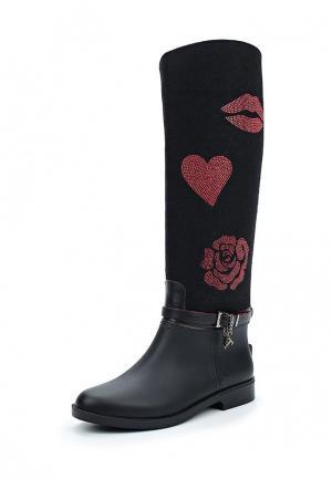 Резиновые сапоги Trussardi Jeans. Цвет: черный