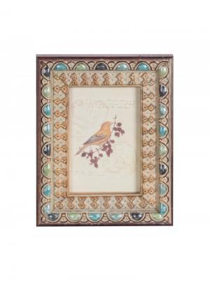 Рамка для фотографии 10х15 см Jia Cheng. Цвет: бирюзовый, кремовый, серо-голубой