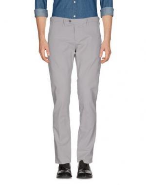 Повседневные брюки OAKS. Цвет: светло-серый