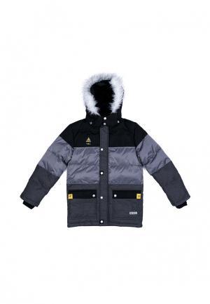 Куртка утепленная SCool S'Cool. Цвет: серый