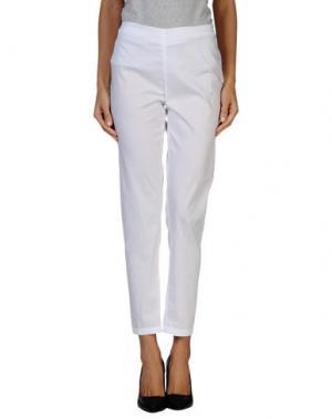 Повседневные брюки NIU'. Цвет: белый