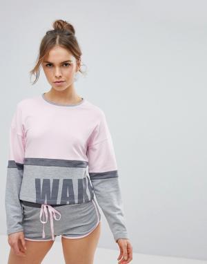 Boux Avenue Пижама со свободным топом и шортами. Цвет: мульти