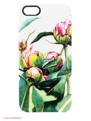 Чехол для iPhone 5/5s Water-colour Pink Buds Kawaii Factory. Цвет: белый, темно-зеленый, малиновый