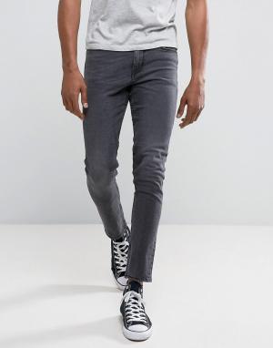 New Look Черные выбеленные джинсы скинни. Цвет: черный