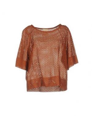 Блузка GARAGE NOUVEAU. Цвет: коричневый