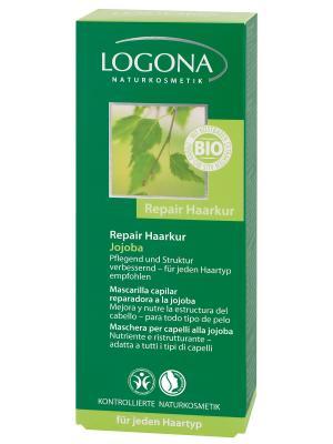 Logona Восстанавливающий крем для волос с маслом Жожоба. Цвет: светло-бежевый