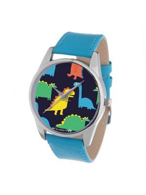 Часы Mitya Veselkov. Цвет: зеленый, желтый, синий
