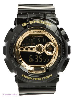 Часы G-SHOCK GD-100GB-1E CASIO. Цвет: черный, золотистый