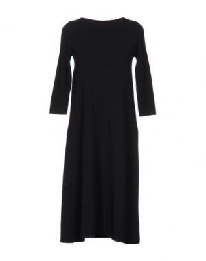 Платье до колена BASE. Цвет: черный