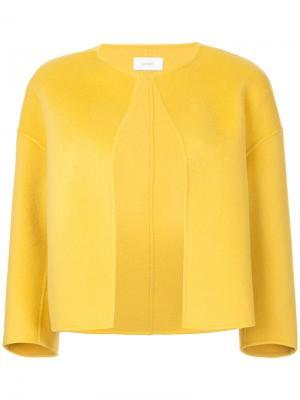 Структурированный пиджак без воротника Astraet. Цвет: жёлтый и оранжевый
