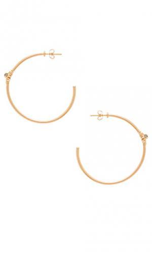 Серьги-кольца starburst Melanie Auld. Цвет: металлический золотой