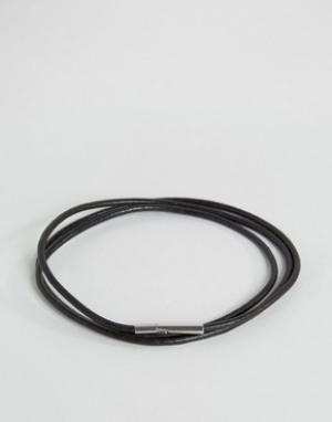 Seven London Черный браслет в несколько оборотов эксклюзивно для ASOS. Цвет: черный