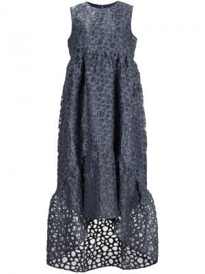 Платье с вышивкой Co. Цвет: серый