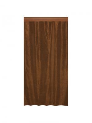 Штора Пастель коричнев. 200*270, шт Seasons. Цвет: коричневый