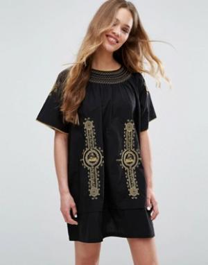 Ivana Helsinki Платье-рубашка Moomin Mimmi. Цвет: темно-синий
