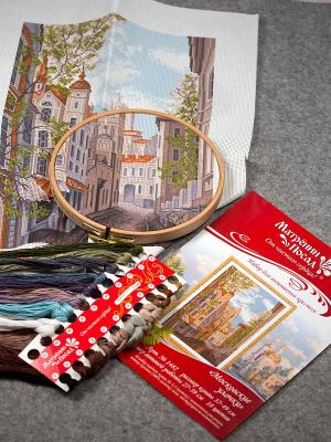 Набор для вышивания Московские улочки Матренин Посад. Цвет: белый, коричневый