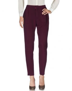Повседневные брюки MANUEL RITZ. Цвет: баклажанный