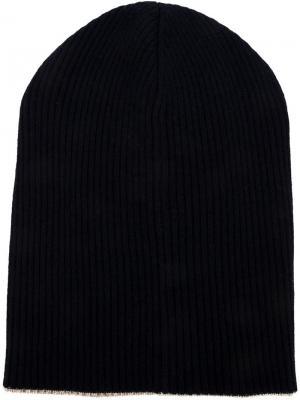 Мешковатая шапка Brunello Cucinelli. Цвет: синий