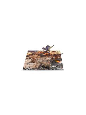Набор мини-динозавры и пазл Исследование SCHLEICH. Цвет: оранжевый, серый