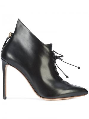 Сапоги со шнуровкой Francesco Russo. Цвет: чёрный