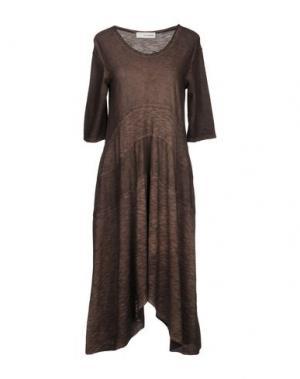 Короткое платье UN-NAMABLE. Цвет: темно-коричневый
