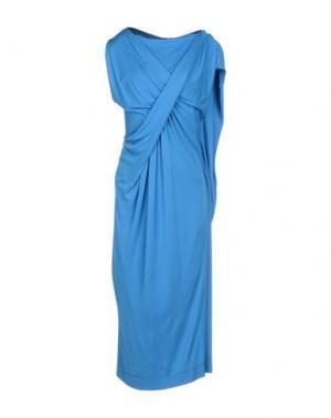 Платье длиной 3/4 PETER PILOTTO. Цвет: лазурный