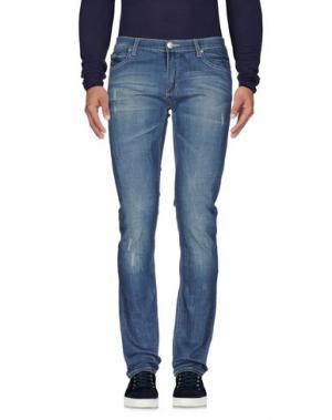 Джинсовые брюки DOUBLE BLACK. Цвет: синий