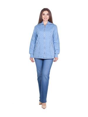 Куртка LAFEI-NIER. Цвет: голубой