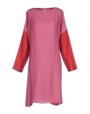 Платье до колена BARBA Napoli. Цвет: розовый