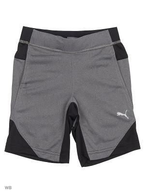 Шорты Gym Poly Shorts PUMA. Цвет: серый