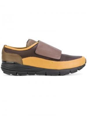 Панельные полосатые кроссовки Antonio Marras. Цвет: коричневый