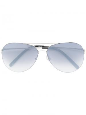 Солнцезащитные очки авиаторы Matthew Williamson. Цвет: металлический