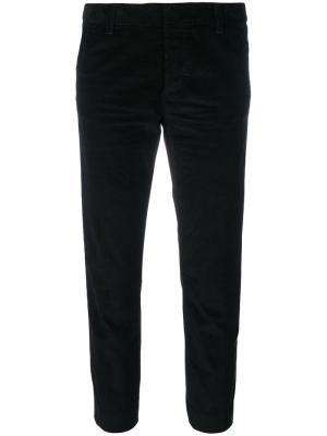 Укороченные вельветовые брюки Dsquared2. Цвет: чёрный