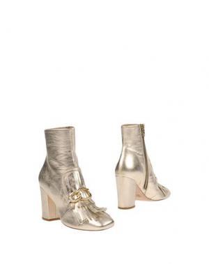Полусапоги и высокие ботинки SPAZIOMODA. Цвет: платиновый