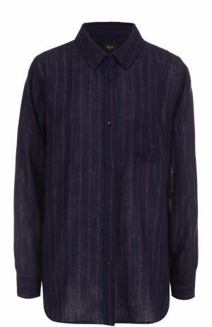 Блуза свободного кроя с принтом Rails. Цвет: разноцветный