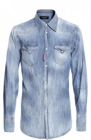 Джинсовая рубашка Dsquared2. Цвет: голубой