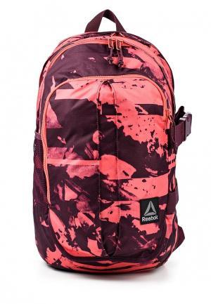 Рюкзак Reebok. Цвет: бордовый