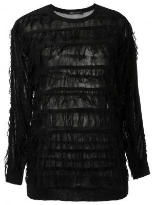 Вязаная блузка с бахромой Uma | Raquel Davidowicz. Цвет: чёрный