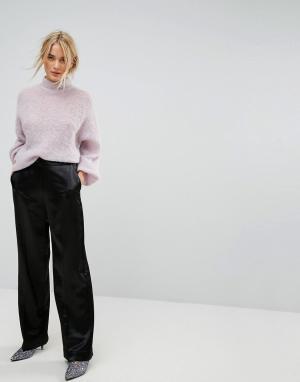 Gestuz Строгие брюки с широкими штанинами. Цвет: черный