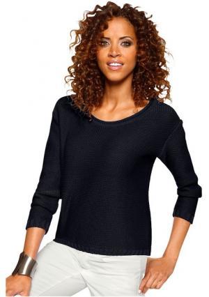 Пуловер Classics collection Classic's. Цвет: серо-коричневый, ярко-бирюзовый