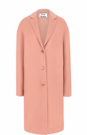 Пальто свободного кроя с узкими лацканами Acne Studios. Цвет: светло-розовый