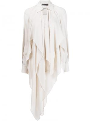 Блузка асимметричного кроя Plein Sud. Цвет: телесный