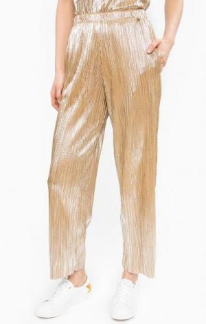 Широкие брюки золотистого цвета rich&royal. Цвет: золотистый